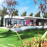 Plan maison contemporaine réalisé par ART ET BASTIDES Constructeur de maisons individuelles en Vaucluse