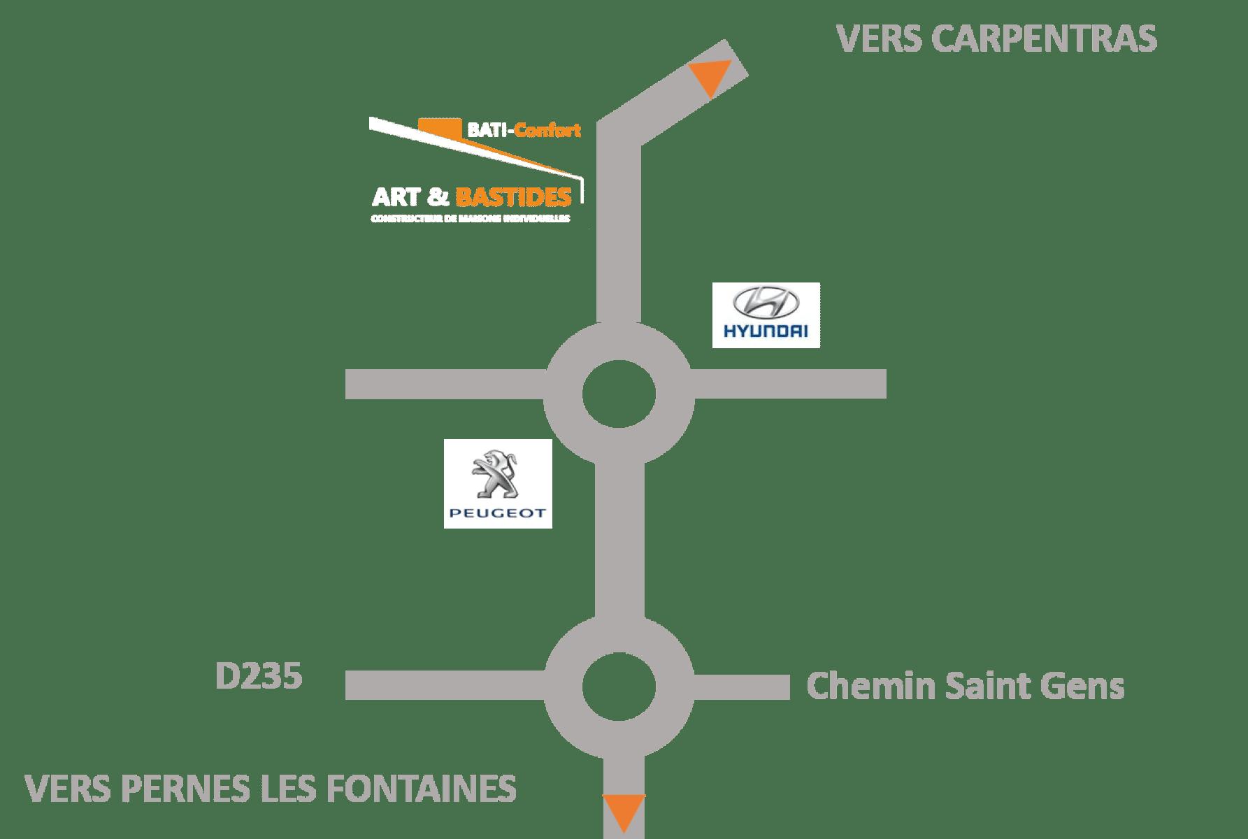 Trouver l'entreprise ART ET BASTIDES à Carpentras constructeur de maisons neuves dans le Vaucluse.