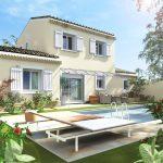 Plan maison à étage, réalisé par ART ET BASTIDES constructeur de maisons individuelles en Provence